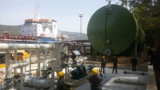 Completion of works on the system for collecting and processing of volatile organic compounds in the Rijeka oil refinery, Port Bakar