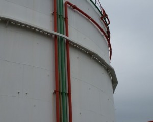 Tank cooling and extinguishing pipeline