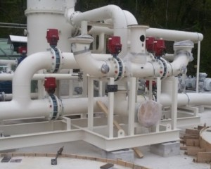Installation of process station for absorbent and filters with activate carbon in Rijeka Refinery 2