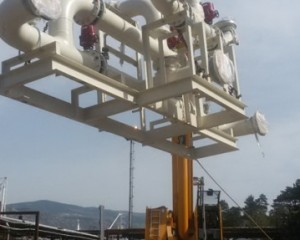 Installation of process station for absorbent and filters with activate carbon in Rijeka Refinery 3